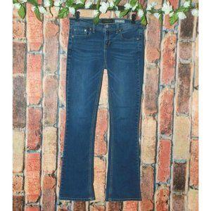 Aeropostale Ladies Blue Jeans Size 8 Stretch Boot
